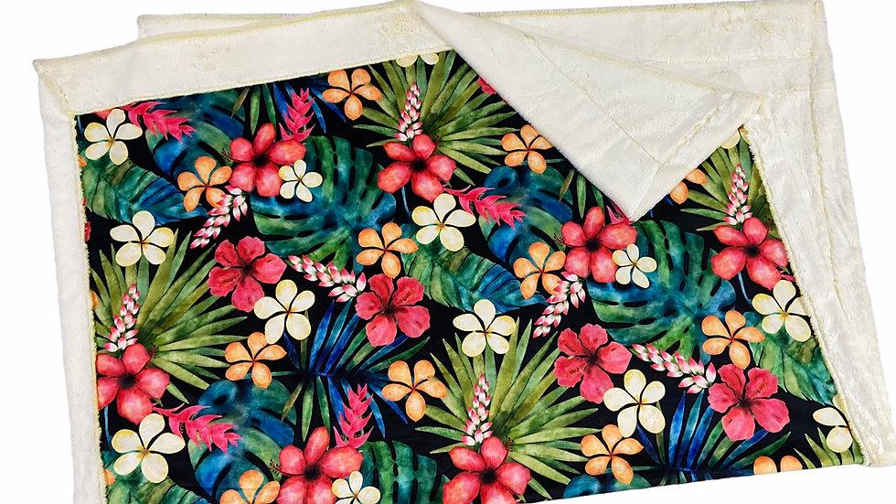 Pre-Order - Tropical Paradise Watercolour Floral on black