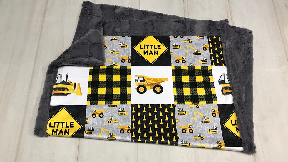 Pre-Order ~ Little Man Construction Nursery | Yellow Black