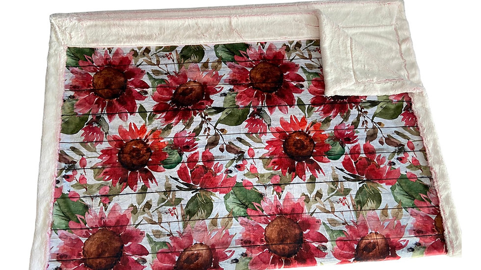 Pre-Order ~ Red Sunflower Watercolour Floral