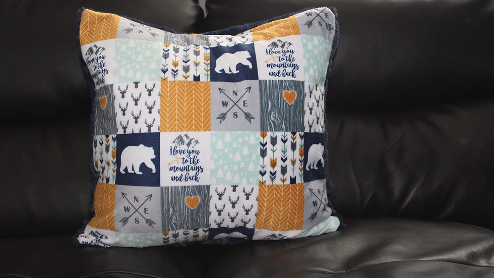 RTS - Toss Cushion Cover - Navy Hide