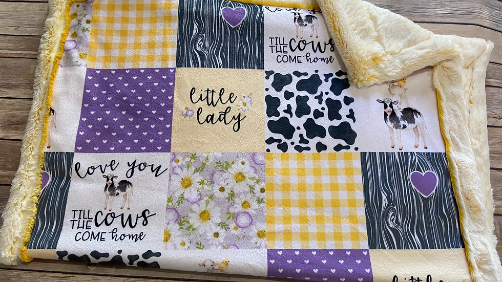 Little Lady Love You Till The Cows Come Home | Yellow Purple