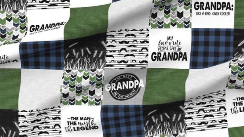 Pre Order - Grandpa - Green Blue & Grey