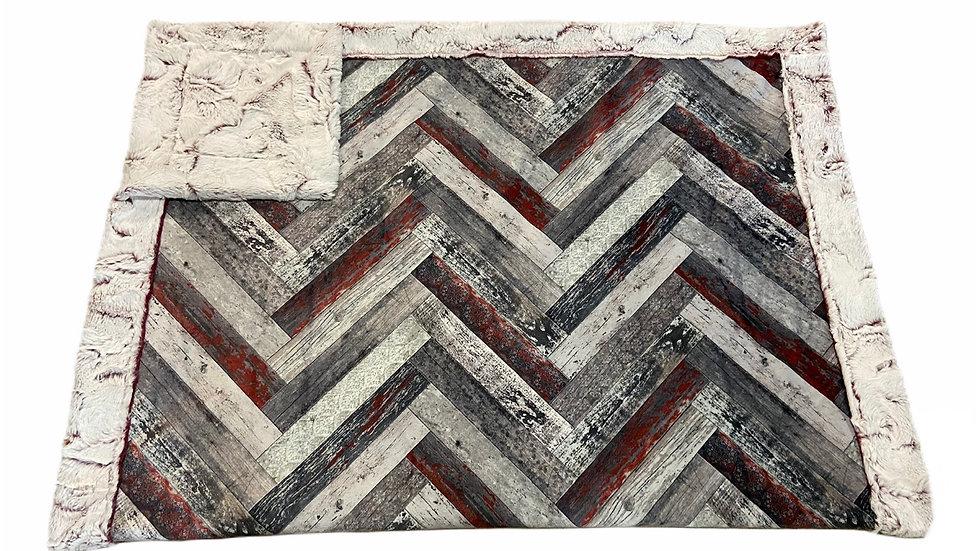 Vintage Wood Chevron Tiles herringbone | Burgendy