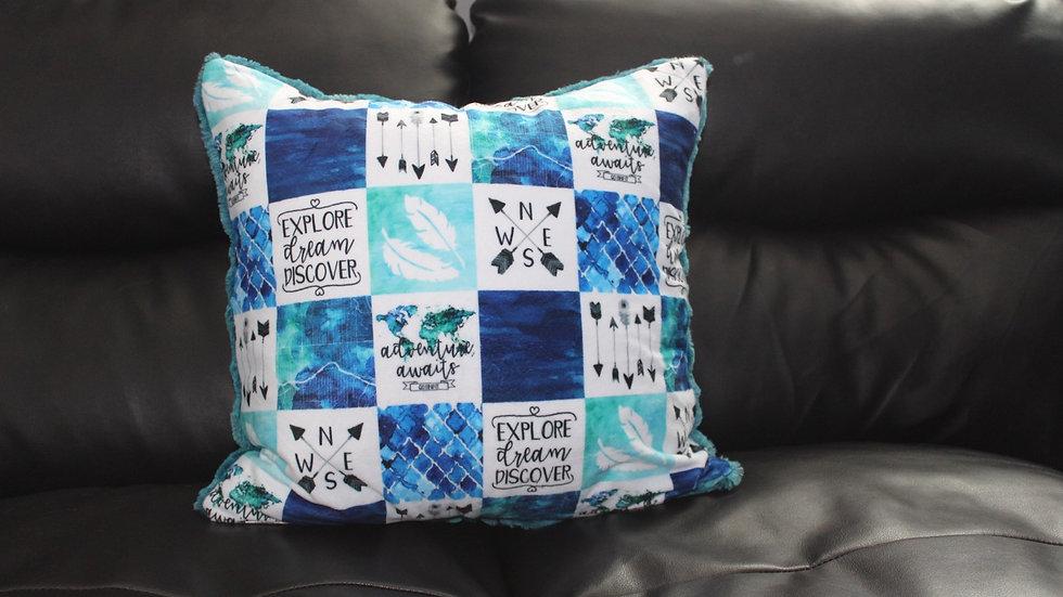 RTS - Toss Cushion Cover - Lagoon Heather