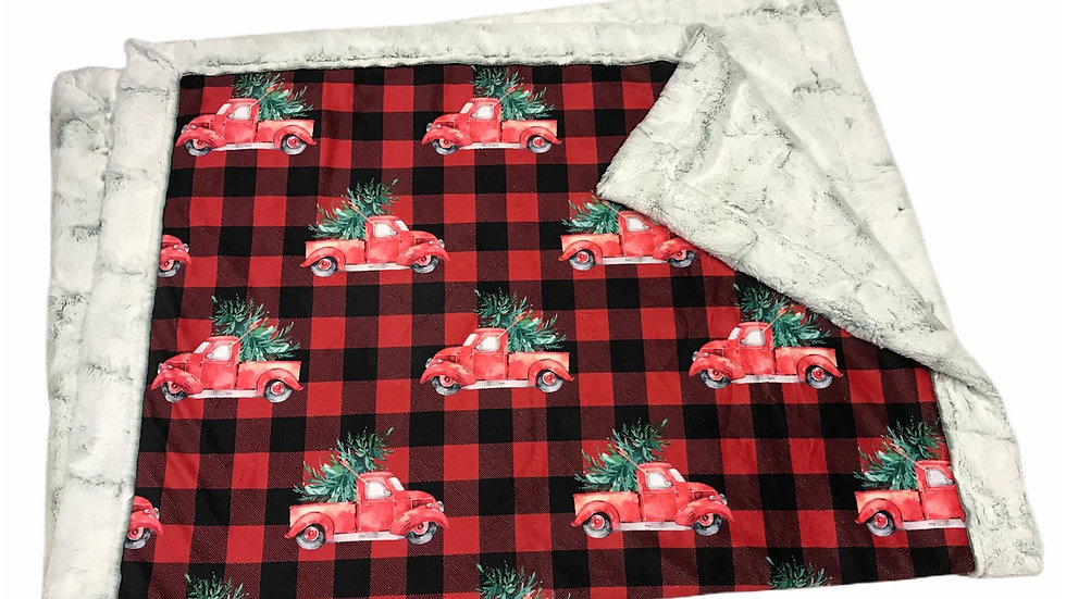 Plaid Christmas Trucks