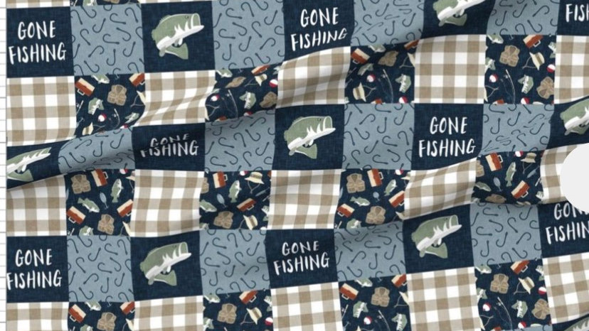 Pre-Order ~ Gone Fishing | Navy Sage Tan