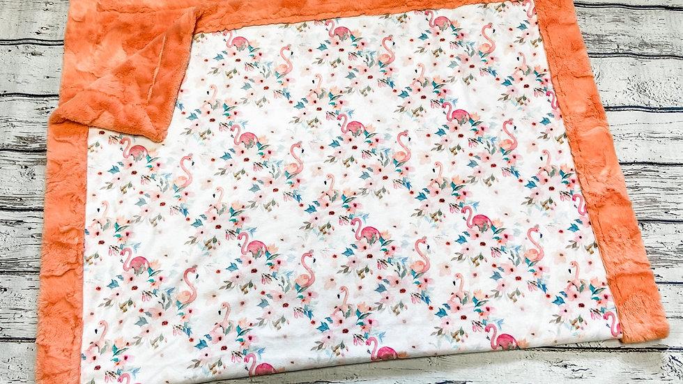 Summer Floral Flamingos