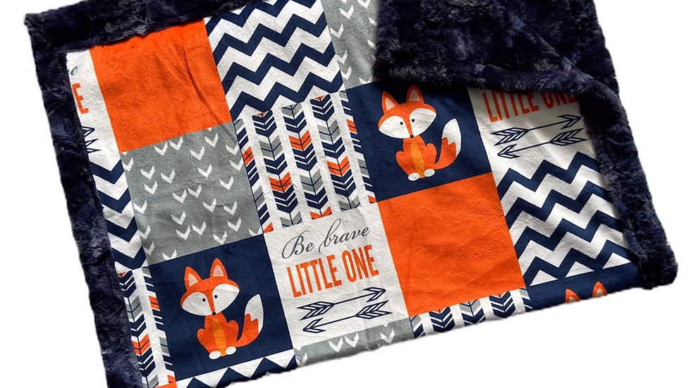 Pre Order - Be Brave Little One Fox - Orange & Navy