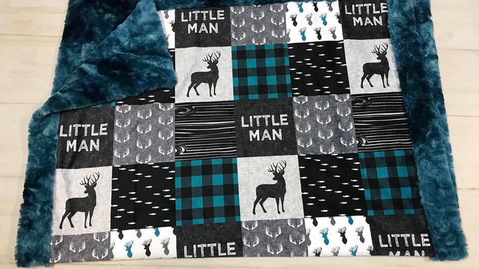 Little Man | Teal Black