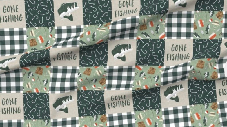 Gone fishing | Sage Green