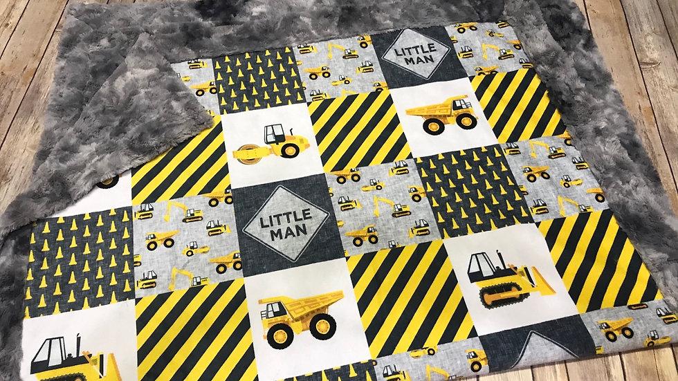 Little Man Construction Nursery | Yellow Grey