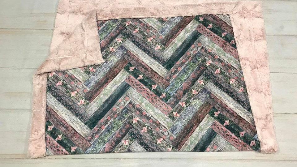 Pre-Order ~ Vintage Wood Chevron | Pink