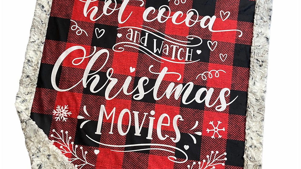 Pre-Order ~ Hot Cocoa & Christmas Movies - Red Plaid