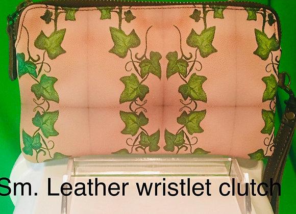Leather Clutch- Ivy Trellis