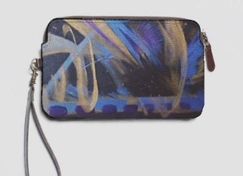 Mystic Symphony Leather Statement Clutch