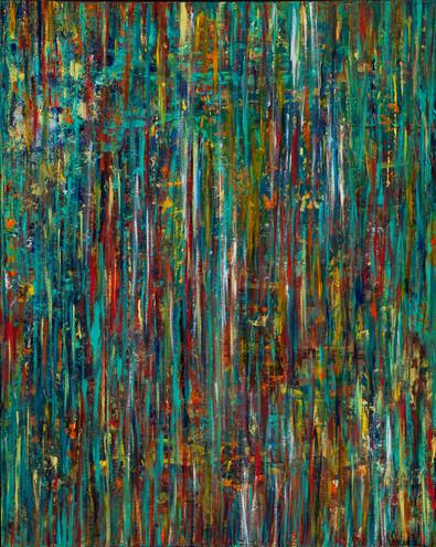 """""""Awaken"""" - 34x30 Acrylic"""