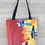 Thumbnail: Flaming Plaid Tote Bag