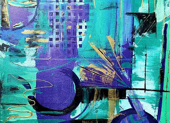Urban Plan Abstract Framed Print