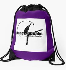 Purple Logo Drawstring bag
