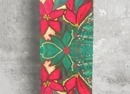 Poinsettia Holiday Scarf