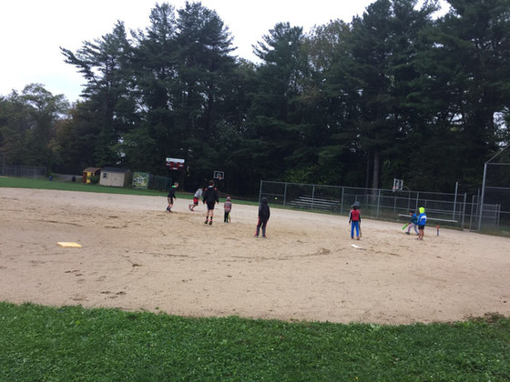 SYCA kids practicing in Fall