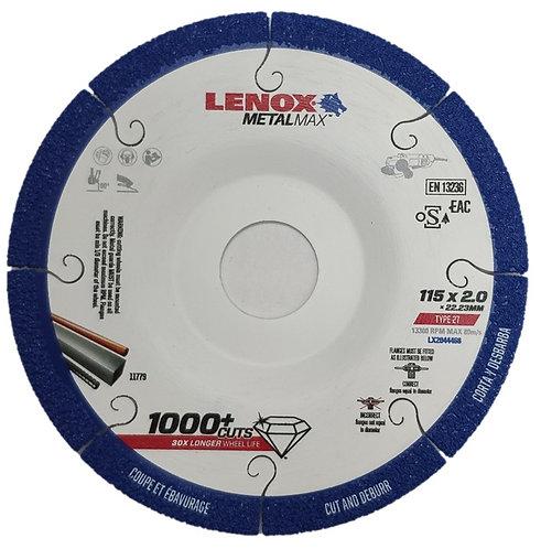 """דיסק יהלום לחיתוך מתכת והשחזה קלה 115 מ""""מ לנוקס"""