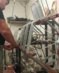 Hard at work! #skeins #gurdyrun #woolmill