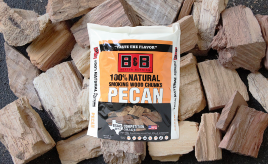 B&B Pecan Wood Chunks 3.1kg