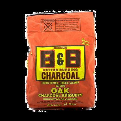 B&B Oak Charcoal Briquettes 6lb/8 kg