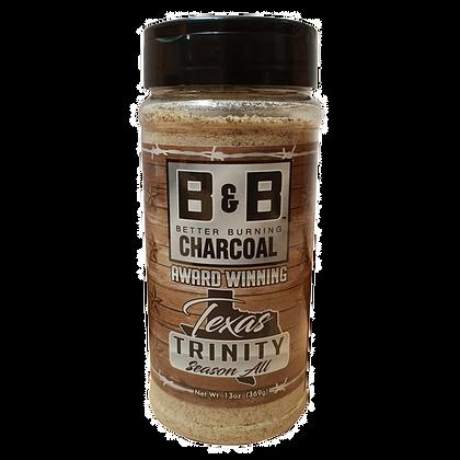 B&B Charcoal Texas Trinity Season All Seasoning