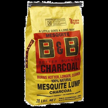 B&B Mesquite Lump Charcoal 20lb/9kg