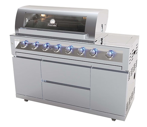 Gasmate Galaxy Stainless Steel 6-Burner BBQ - Natural Gas