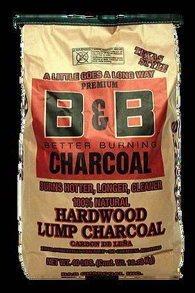 B&B Hardwood Lump Charcoal 40lb/18kg