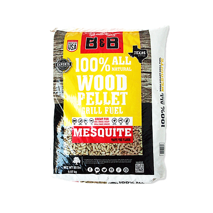 B&B Mesquite Wood Pellets 20lb/9kg