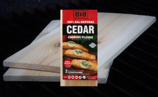 B&B Charcoal Cedar Grilling Planks
