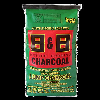 B&B Hickory Lump Charcoal 20lb/9kg
