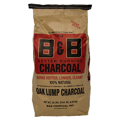 B&B Oak Lump Charcoal 20lb/9kg