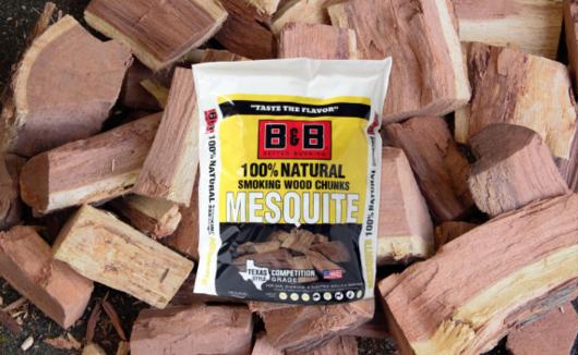 B&B Mesquite Wood Chunks 3.1kg