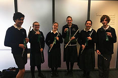 2018 Warrnambool College Flute Ensemble.
