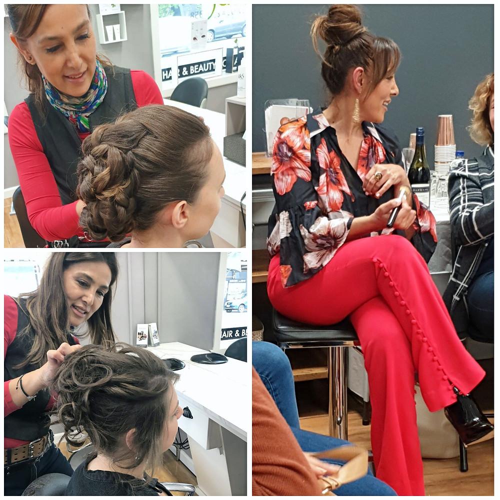 Happy women in hair salon