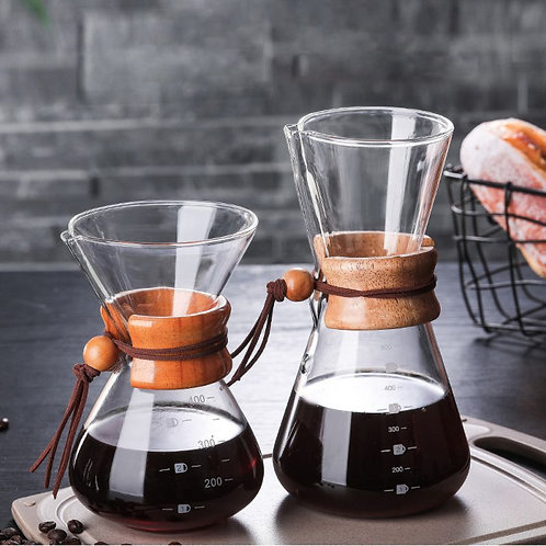 Pour Over Borosilicate Glass Coffee Pot
