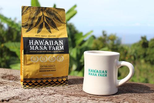 12oz 100% Kona Coffee & Mug Set