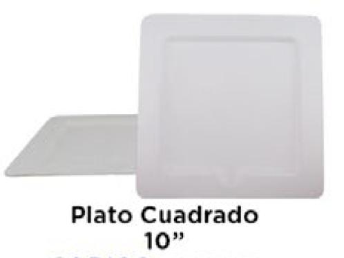 """Plato Cuadrado 10"""""""