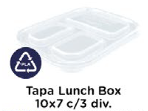 Tapa Lunch Box 10x7 c/3 div.