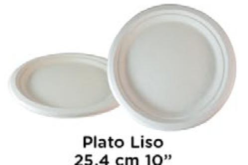 """Plato Liso 24.5cm 10"""" ."""