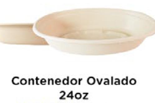 Contenedor Ovalado 24oz