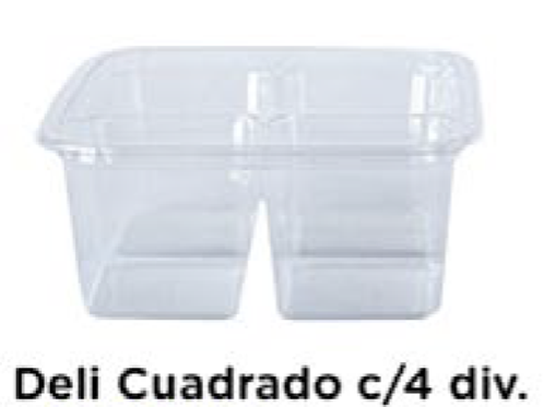 Deli Cuadrado c/4 divisiones