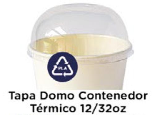 Tapa Domo Contenedor 12/32oz