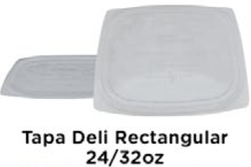 Tapa Deli Rectangular 24/32oz