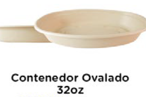 Contenedor Ovalado 32oz